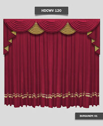 Saaria Hdcwv-120 Home Decorative Movie Theater Screen Curtains Drapes 12and039w X 8and039h