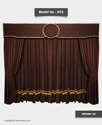Saaria Movie Home Theater Decor Event Hall Stage Velvet Curtain 10'W x 8'H HT-3