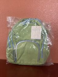Pottery Barn Kids Fairfax Small Green Backpack With Blue Trim - New With Tag