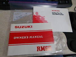 Oem Suzuki Owners Manual And Riding Tips Guide 1981 Rm60 99011-46693-03a