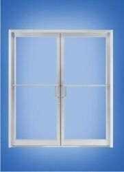 Aluminum Storefront Door And Frameclear Anodized Finish For Studentgrade