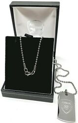 Arsenal Fc Stainless Engraved Dog Tag And Chain Pendant Necklace Afc