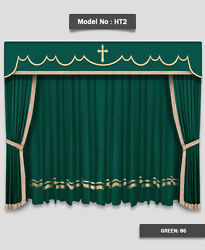 Saaria HT-2 Home Theater Event Stage Movie Hall Decor Curtains Drapes 10'W x 8'H