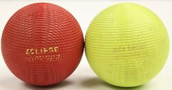 Colourful Pair Of Eclipse English Pebble Lawn Bowling Balls