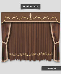 Saaria HT-2 Home Decorative Event Hall Stage & Movie Theater Curtains 10'W x 8'H