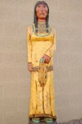 6foot Corn Maiden Yellow Skirt Baby In Papoose Cigar Store Indian F. Gallagher