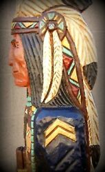 5and039 Cigar Store Indian Sergeant Blue Coat Calvary 5 Ft Wood By Frank Gallagher