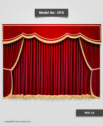 Saaria Ht-4 Decorative Stage Curtains And Movie Theater Valance Curtain 22and039wx10and039h
