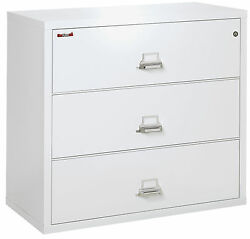 Arctic White 3 Drawer UL Class 350 1 hour Fireproof Lateral 44