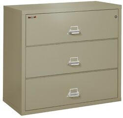 Office Pewter 3 Drawer UL Class 350 1 hr fireproof Lateral 44