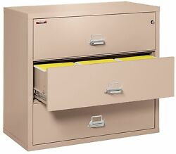 Champagne 3 Drawer UL Class 350 1 hour fireproof Lateral 44