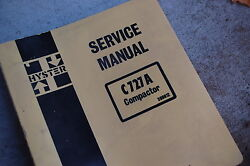 Hyster C727a Double Drum Vibratory Roller Compactor Service Repair Manual Book
