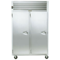 Traulsen G24313 2 Section Solid Door Reach-In Heated Cabinet- LeftLeft Hinged