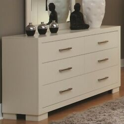Coaster Jessica 6 Drawer Contemporary Double Dresser in White