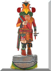 Vintage Large 18 Hopi Parrot Kachina Doll Collectible By Robert Allison 1980s