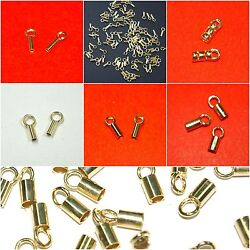 Wholesale Lots Gold Plated 925 Sterling Silver Crimp End Caps For Chains Leather