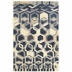 Bowery Hill 8and039 X 11and039 Hand Tufted Rug In Ivory And Navy