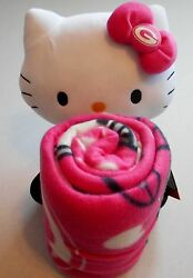 Green Bay Packers 10 Hello Kitty Plush Pillow Doll Throw Blanket 40 X 50 Pink