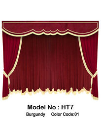 Saaria HT-7 Home Theater Event Stage Movie Hall Decor Curtains Drapes 10'W x 8'H