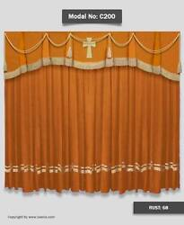 Saaria C-200 Church Event Stage Home Decorative Hall Curtains Drapes 7'W x 8'H
