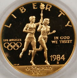 1984-s Olympic 10 Proof Commemorative Gold Coin
