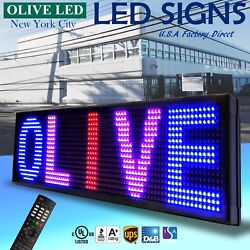 Olive Led Sign 3color Rbp 21x79 Ir Programmable Scroll. Message Display Emc