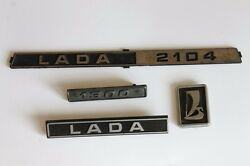 Vintage Russian Lada 2104 Pair Front And Rear Emblem 1980and039s