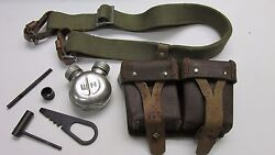 Post Ww2 Russian Mosin Nagant 91/30 M44 M38 Cleaning Kit W/ Ammo Pouch And Sling
