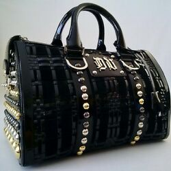 Nwot Versace Dv Studded Woven Leather Suede Doctor Handbag Made In Italy