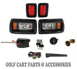 Club Car Ds Golf Cart Led Headlight And Tail Light Kit Deluxe Street Package