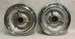 Lot Of 2 Scarce Oem 1950and039s 60and039s Oldsmobile Wheel Cover Hubcaps