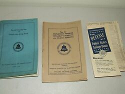 1938 Bell System New England Telephone And Telegraph Co. Employee Benefits Books