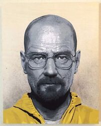HEISENBERG Stencil Art Painting, Breaking Bad Fan Art, Breaking Bad Painting