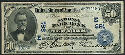 Fr667 50 1902 National Park Bank Of N.y. Ch 891 Date Back Only 4 Known Wlm2630