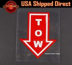 4.5 X 3.75 Bumper Red Tow Arrow Point Sticker Adhesive Vinyl For Mercedes