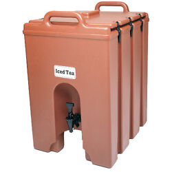 Cambro 1000lcd158 11-3/4 Gallon Camtainer Beverage Carrier Hot Red
