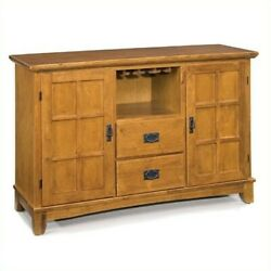 Home Styles Arts And Crafts Dining Buffet In Cottage Oak