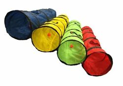 New S4O Kitty Cat Play Tunnel Pet Toy - Four Exit Holes - 4 Feet Long LIME