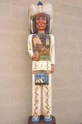 6and039 Cigar Store Wooden Indian Chief Sculpture By Frank Gallagher Native Made Usa