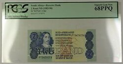 1983-90 No Date South Africa 2 Rand Bank Note Scwpm 118d Pcgs Gem 68 Ppq