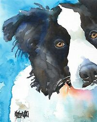 Border Collie Art Print from Painting Gifts Poster Picture Mom Dad 8x10