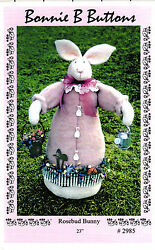 Rosebud Bunny Bonnie B Buttons Sewing Craft Dollmaking Pattern 2985 23 High