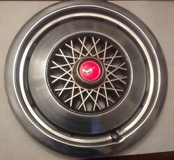 Vintage Ford Mustang Hub Cap 14 Inch Ford Original Part