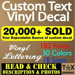 Custom Vinyl Lettering Decal Personalized Sticker Business Sign Text Name Door $7.95