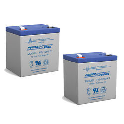 Power-sonic 12v 5ah Battery Replacement For Adt Security Manager 2000 - 2 Pack