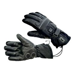 OXFORD Leather Waterproof & Breathable Heated Motorbike Motorcycle Hot Gloves