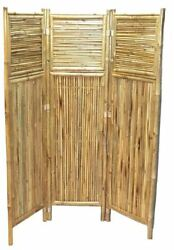 New Bamboo Privacy Room Divider Screen Horizontal and Vertical Pattern ECO ZEN