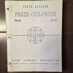 Piper Pacer Pa-20 And Tri-pacer Pa-22 Parts Manual