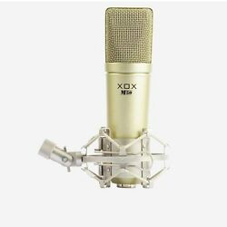 XOX M50 3.5mm Condenser Karaoke Microphone for Broadcast Recording Singing Vocal