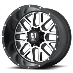 Xd Series Xd820 Grenade 20x12 8x165.1 Et-44 Black W/machined Face Qty Of 4